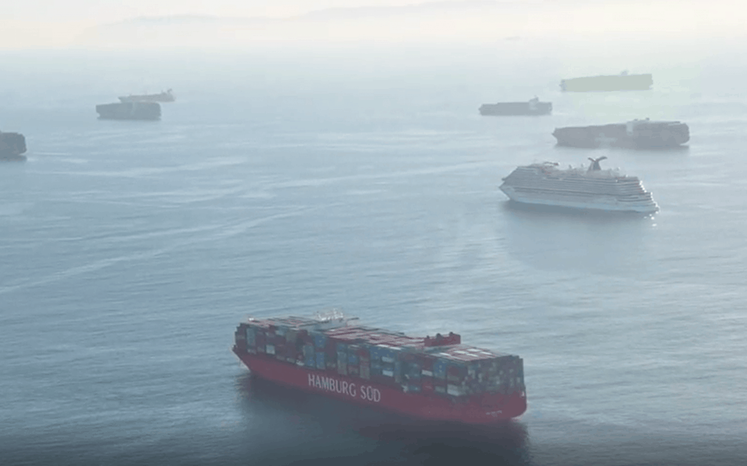 Scale of California shipping delays exposed in new video